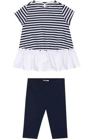 Il gufo Baby cotton dress and pants set