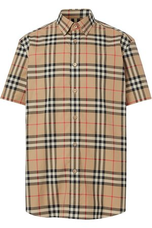 Burberry Camisa manga corta a cuadros