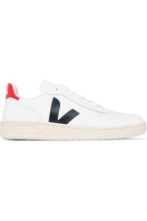 Veja White V-10 leather sneakers