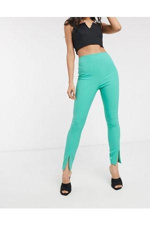 ASOS Pop slim split front trousers