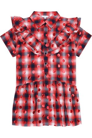 Marc Jacobs Dotted checked cotton dress
