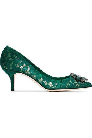 Dolce & Gabbana Mujer Tacones - Zapatos de tacón Bellucci 60 con encaje y cristales