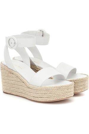 Gianvito Rossi Exclusive to Mytheresa – Leather espadrille wedges