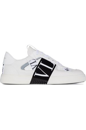 VALENTINO White VL7N logo banded leather sneakers