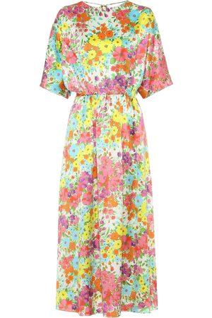 Les Rêveries Floral silk dress