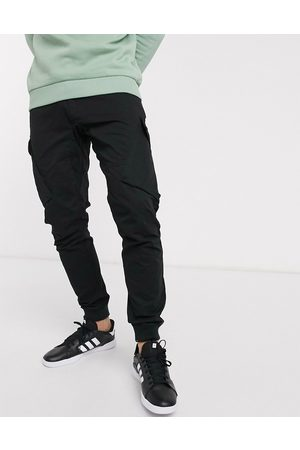 River Island Parker cargo trousers in black