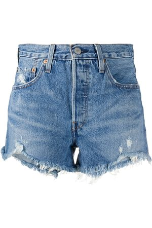 Levi's Shorts de mezclilla con efecto desgastado