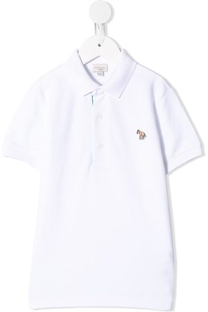 Paul Smith Playera tipo polo con parche logo