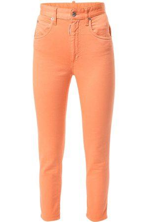 Dsquared2 Skinny jeans capri con tiro alto