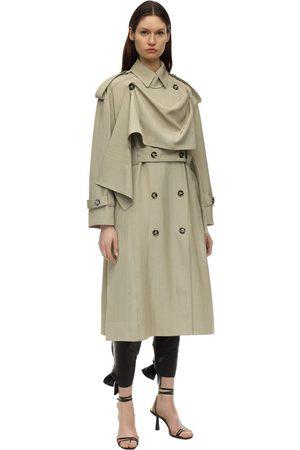 Proenza Schouler Mujer Gabardinas - Over Viscose & Silk Trench Coat