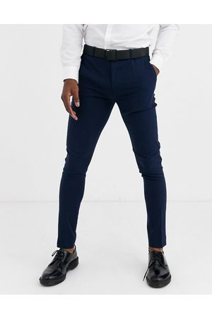 ASOS Super skinny tuxedo suit trousers in navy