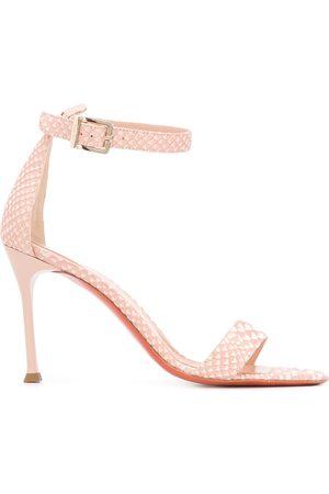 BALDININI Snake print 100mm sandals