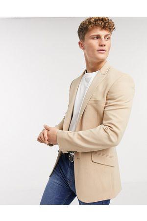 ASOS Skinny blazer in camel oxford