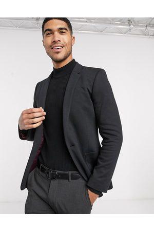 ASOS Super skinny jersey blazer in black