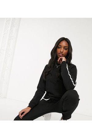 ASOS ASOS DESIGN Tall tracksuit cute sweat / basic jogger with tie with contrast binding in organic cotton