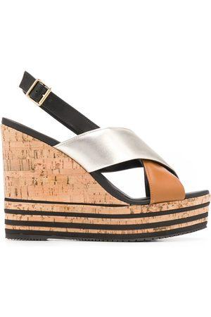 Hogan Mujer Sandalias - HXW3610CS10N5E0QZQ N5E Leather/Leather/Rubber