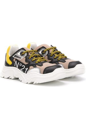 Nº21 Panelled logo sneakers