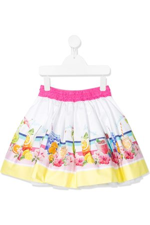 MONNALISA Graphic print flared mini skirt
