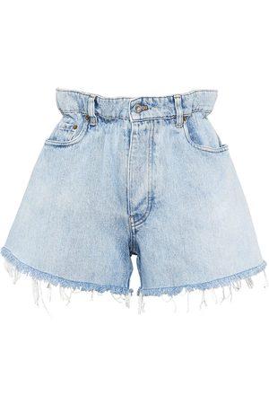 Miu Miu Shorts de mezclilla con tiro alto