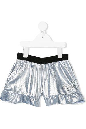 Kenzo Shorts - Ruffle-trimmed metallic shorts
