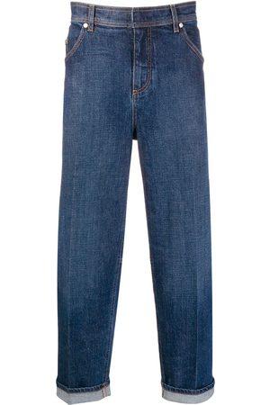 Neil Barrett Jeans rectos con dobladillos con vuelta