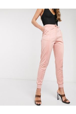 In The Style X Billie Faiers panelled slim fit jogger in pink