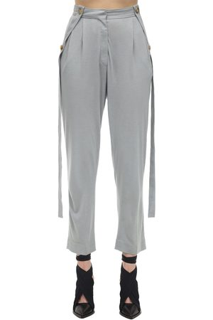 Burberry Pantalones De Jersey Con Pinzas Y Cintura Alta