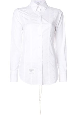 Thom Browne Mujer Manga larga - Lace-up Back Long Sleeve Button Down Point Collar Shirt In Solid Poplin