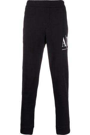 Armani Hombre Pantalones y Leggings - Pants con logo bordado