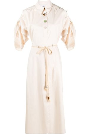 Nanushka Tie waist shirt dress