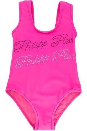 Philipp Plein Monokini Signature embellished swimsuit