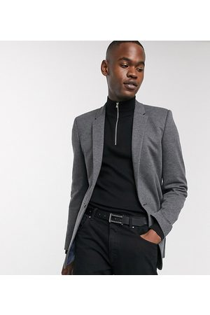 ASOS Tall super skinny jersey blazer in charcoal