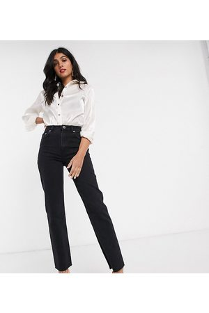 ASOS ASOS DESIGN Tall High rise 'effortless' stretch kick flare jeans in black