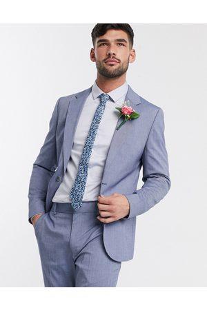 ASOS Wedding skinny suit jacket in light blue