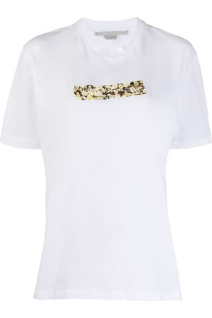 Stella McCartney Daisy-print logo T-shirt