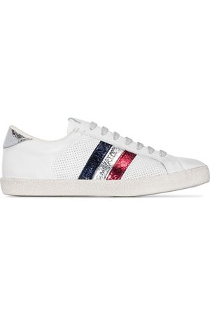 Moncler White Alyssa leather sneakers