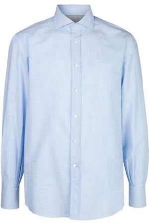 Brunello Cucinelli Hombre Manga larga - Camisa lisa con mangas largas