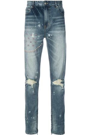 God's Masterful Children Hombre Skinny - Jeans slim bordado y con detalles rasgados