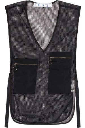 OFF-WHITE V-neck sleeveless utility vest