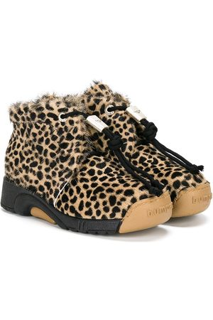Bumper Niña Botines - Botas de motivo de leopardo