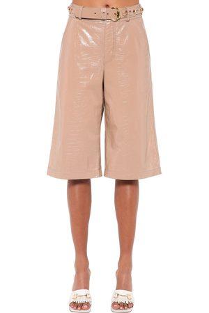 DODO BAR OR Shorts Bermuda De Piel Efecto Cocodrilo