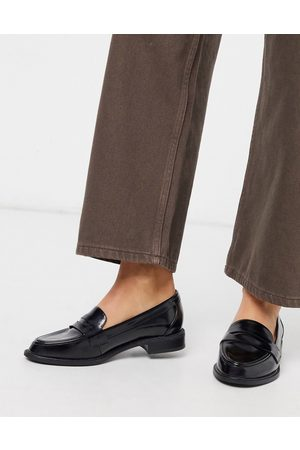 ASOS Mail loafer flat shoes in black