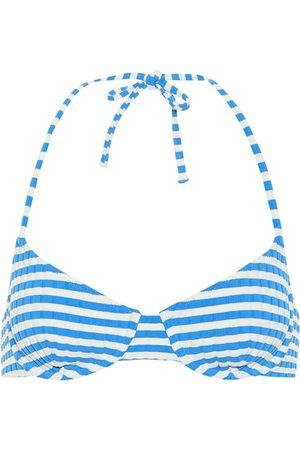 Solid The Ginger striped bikini top
