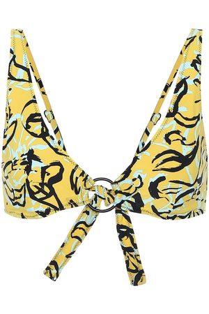 Diane von Furstenberg X Onia Jade floral bikini top