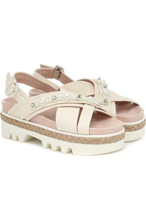 Simone Rocha Embellished leather sandals
