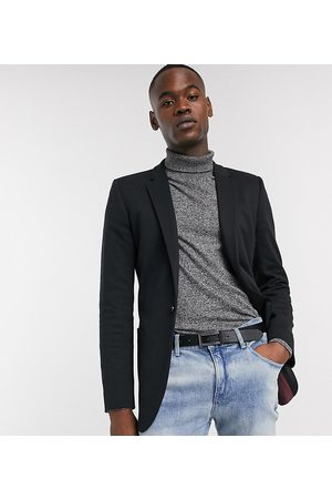 ASOS Tall super skinny jersey blazer in black