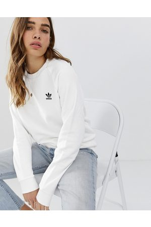 adidas Essential crew neck sweatshirt in white