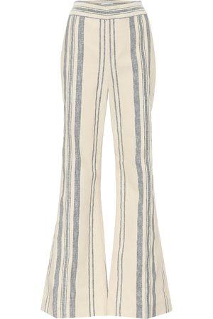 MONSE Striped high-rise flared pants
