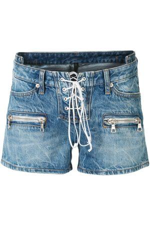 Unravel Project Pantalones vaqueros cortos con cordones