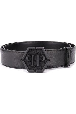 Philipp Plein Top-stitched leather belt